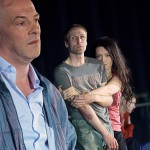 Deportation Cast_1_Johannes Schmidt, Denis Larisch, Kristina Gorjanowa [Foto: Andreas Etter]