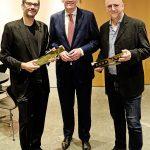 Feier FAUST-Preis-2018_Markus Müller, Michael Ebling, Honne Dohrmann_c_Andreas Etter