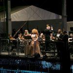 Operngala Vida Mikneviciute, Geneviève King, Derrick Ballard, Alexander Spemann, Philharmonisches Staatsorchester [Foto: Martina Pipprich]