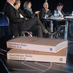 Spielzeit-PK_Honne Dohrmann, Markus Müller, Ina Karr, Hermann Bäumer, Jörg Vorhaben_c_Andreas Etter